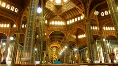 Cartago to Church (Eye of Brice Retailleau) Tags: angle beauty composition perspective scenic view backpacking city architecture bâtiment indoor indoors light gold or oro arches church eglise inside latina central america costa rica cartago basilica basilique