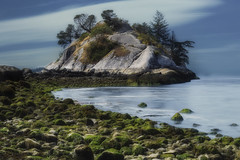 Into the Mystic (charhedman - away till the end of September) Tags: whytecliffpark westvancouver whiteisland longexposure landscape isitstillalandscapeifithastheseainit rocks pacificocean seaweed