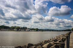 Genesee River (Al Fontaine) Tags: water waterway waterways park parks sky clouds river rivers waterfront nikon nikond7000