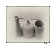 Scène 93- 3 pièces (gravelin.yves) Tags: genre naturemorte objets pot vase