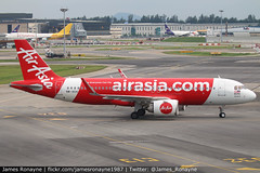 9M-AGA   Airbus A320-251   AirAsia (james.ronayne) Tags: 9maga airbus a320251 airasia neo aeroplane airplane plane aircraft jet jetliner airliner aviation flight flying singapore changi sin wsss canon 80d 100400mm raw
