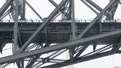Cyclistes sur le Pont de Québec, P.Q., Canada - 7410 (rivai56) Tags: cyclistes sur le pont de québec saintnicolas canada ca cyclists quebec bridge vélo route architecture