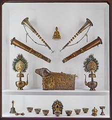 Objets liturgiques du Bhoutan (musée d'ethnographie, Neuchâtel, Suisse)