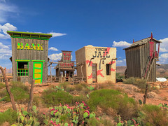 The Virgin Jail (•tlc•photography•) Tags: virgin utah giftstore jail bar bank desert cactus hot