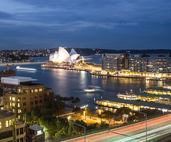 Circular Quay and Sydney Opera House, Sydney, Australia (Magicland - land, sea & surf) Tags: circular quay sydney opera house nsw australia long exposure night cityscape city