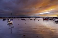 Sunset (jim2302) Tags: skerries dublin ireland boat boats sailboat sail canon 6d 24105mm sunset sun reflection sky burning pier