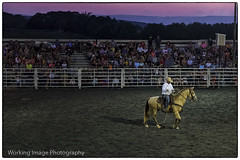 J Bar W Ranch (Working Image Photography) Tags: ranch horse cowboy arena ring bullriding sunset maryland fujifilm xt20 lasso spectators stands