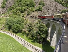 Brusio Spiral Viaduct (l4ts) Tags: landscape europe switzerland grisons bernina brusio brusiosprialviaduct swissrailways rhaetianrailway berninaexpress unesco worldheritagesite viaduct spiral rhaetianrailwayabe44iii