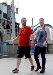 DSCN7773 (danimaniacs) Tags: disneyland gay couple californiaadventure hot sexy man guy beard scruff tanktop