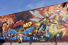 Ant man and the wasp (and a man in a pink t-shirt) (Yekkes) Tags: london spitalfields hanburystreet eastend streetart antmanandthewasp jimvision graffiti art creative wings marvel city urban