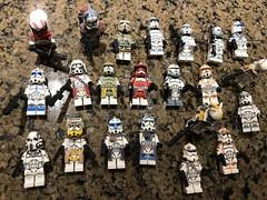 Custom Clones (Johnny-boi) Tags: lego custom minifig minifigure star wars clone trooper commander cody fox rex blitz thorn fives wolffe