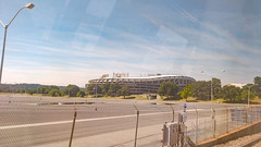 Ghost stadium (Tim Brown's Pictures) Tags: washington dc metro rfkstadium sportsstadiumdcstadium parkinglot unitedstates reflections