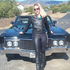 Come see this amazing car speed away from the cops in Devil's Cove. Openingin theaters August 3rd #Chloetraicos #DevilsCovemovie #sexycar #leatherpants #sunglasses #leatherboots #leatherjacket #blonde #california (ariandchloeruchlin) Tags: instagramapp square squareformat iphoneography uploaded:by=instagram