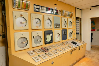 The Control Room of Seagrams Gin Distillery in Montreal Canada