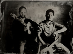 """Pierre & Ben"" (patrickvandenbranden) Tags: ambrotype wetplate collodion collodionhumide alternativeprocess blackandwhite noiretblanc portrait studio"