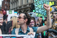 Queer Londoners join protest against Donald Trump's visit (Zefrog) Tags: zefrog queer london trump donaldtrump protest demonstration demo lgbt dragqueen