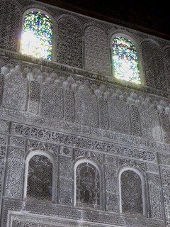 Salle de prière, médersa Attarine (début XIVe siècle), Talaa Kbira, médina de Fès el Bali, Fès, Maroc.