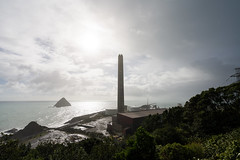 New Plymouth (Daniel Talbot) Tags: newplymouth newzealand northisland taranaki teikaamāui chimbney cloud clouds coast island landforms ocean oceania oceans sea seas season seasons stack weather winter wintertide wintertime