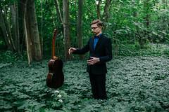 Vahur Kubja, a classical guitarist (Rait_Tuulas) Tags: portrait musician guitarist eesti estonia tallinn forest green