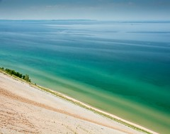 Caribbean Blue . . . (Dr. Farnsworth) Tags: view piercestocking nationallakeshore sand dune climb blue green caribbean gulf mexico sleepingbear mi michigan summer june2014