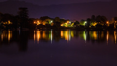 Hint of Purple - Night Reflections (Merrillie) Tags: night blackwall landscape water reflections city nighttime newsouthwales homes lights brisbanewater sthubertsisland australia nightlights mountains woywoy lines nightscape centralcoast town bay