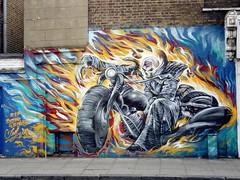 20180704 ghost rider hoxton (bonez007) Tags: hoxton london england art streetart ghostrider motorbike debeauvoirtown