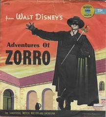 Zorro Golden Record Sleeve (Donald Deveau) Tags: zorro goldenrecords record vinyl disney disnyana