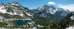 The Alpine Lakes (Mark Griffith) Tags: adventure alpinelakeswilderness alpinetraverse fastpacking hike hiking mountains sonyrx100v trailrunning traverse ultraneering washington 20180709dsc02844pano