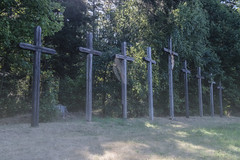 A place of tragedy (The Adventurous Eye) Tags: place tragedy medieval murder nine wooden crosses grave