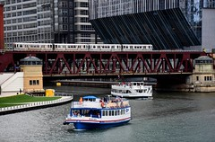 USA 2018 (jaffa600) Tags: unitedstates unitedstatesofamerica usa america chicago cityofchicago illinois stateofillinois thewindycity windycity lakemichigan chicagoriver river riverside lakefront bridge bridges riverbridge swingbridge watertaxi riverboat rivercruise city