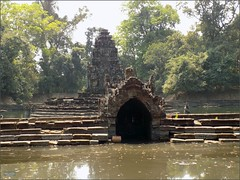 Angkor, Temple Neak Pean 20180203_115543 DSCN2672 (CanadaGood) Tags: asia seasia asean cambodia siemreap angkor neakpean buddhist khmer temple tree archaeology pond pool canadagood 2018 thisdecade color colour