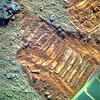 Opportunity's Wheel Tracks and a Meteorite 2, variant (sjrankin) Tags: 22april2018 edited nasa mars rgb colorized bands257 rock meteorite sand tracks wheeltracks treadmarks opportunity endeavourcrater
