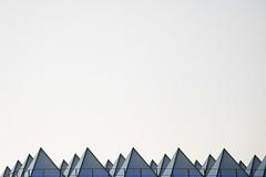 Pyramidical hue (marktmcn) Tags: pyramidical roof pyramid shaped shapes many pyramids roofllights blue hue light sky hayward gallery south bank centre london d7500 abstract abstraction