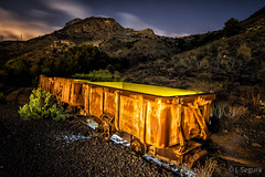 Tren minero abandonado de Portman I (Yorch Seif) Tags: noche night nocturna nocturnal lightpainting longexposure largaexposicion estrellas stars d7500 tokina1116 portman trenminero cartagena