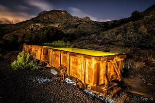 Tren minero abandonado de Portman I