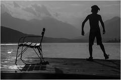 * * * Sommer am See * * * (ღ eulenbilder - berti ღ) Tags: see millstättersee abendstimmung licht sonnenuntergang schwimmen baden sommerlaune wasser kind himmel sommer stimmung sand