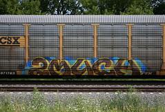 2much (quiet-silence) Tags: graffiti graff freight fr8 train railroad railcar art 2much rem autorack csx