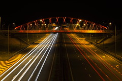 _MG_5020 Highway to Hell (MariuszWicik) Tags: contrast bridge night polska poland piekary road railroad blur lines sky building freeway canon canoneos5dmarkii śląskie light highway care speed lens mariuszwicik