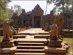 Angkor, Preah Khan Entrance 20180203_130131 DSCN2707 (CanadaGood) Tags: asia seasia asean cambodia siemreap angkor buddhist hindu khmer preahkhan temple tree building sculpture architecture archaeology canadagood 2018 thisdecade color colour