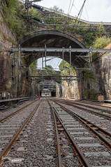 A permission visit into the Liverpool Lime Street to Edge Hill Railway cutting during the Lime Street blockade.  Showing various features, including the old track workers Cabin, Ramsbottom's Chimney and the bricked up Triple Decker Tunnel. (chrisiles_co_uk) Tags: chris iles liverpool history heritage lime street station edge hill cutting railway west coast main line network rail triple decker tunnel ramsbottom's chimney joseph williamson friends williamson's tunnels underground subterranean nikon d850