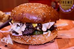 I Can Has Cheezburger? (cb|dg photo) Tags: sauce cheese meat bun foodporn food sanfrancisco theboard cheeseburger hamburger