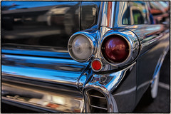 Car Art. (drpeterrath) Tags: canon eos5dsr 5dsr car classic vintage 50s taillight abstract closeup color losangeles auto automobile culture show glendalecruisenight dof depthoffield california glendale naturallight
