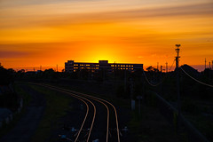 Sunset Southwest Detroit (Will-Jensen-2020) Tags: detroitphotographer tracks railroad railway train receiving sunset hospital southwest detroit michigan usa