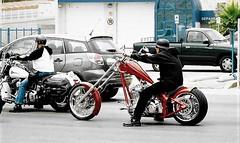 The Ride (Shot by Newman) Tags: custom bikers shotbynewman bikes laughlinnv riverrun bikeweek fuji400 35mm fujifilm 35mmminolta