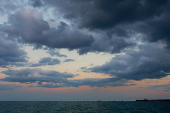 Chicago Sunset Lake Michigan (LauriNovakPhotography) Tags: sunset water chicago illinois lakemichigan northavenuebeach sky drinkclick clouds