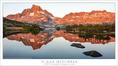 Sierra Light, Reflection (G Dan Mitchell) Tags: banner peak sunrise first light backcountry reflection rocks shore shoreline ridge sierra nevada nature landscape wilderness california usa north america