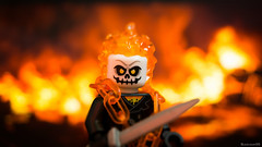 I love fire (black.zack00) Tags: lego minifig minifigure fire ghostrider ghost rider toy toys photography miniature afol arm fun