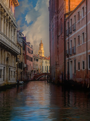 Late Afternoon, Venice, #41 (andertho) Tags: venice italy canals reflection dusk olympus omd em1 microfourthirds m43