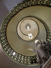 Spiral Staircase (Ian Robin Jackson) Tags: aberdeen townhall architecture spiralstaircase stairs statue queenvictoria light up sony zeiss building scotland scottish buildings buildingsofscotland scottisharchitecture stairways britishstairways august