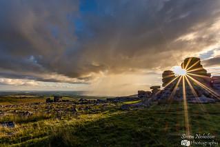 Evening Sun At Great Staple Tor